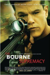 The Bourne Supremacy (2004)  Directed by Paul Greengrass,  Written by Robery Ludlum(novel), Tony Gilroy(sreenplay)  Starring Matt Damon, Franka Potente, Julia Stiles, Joan Allen, Brian Cox