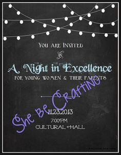 Young Women in Excellence Chalkboard Invitation