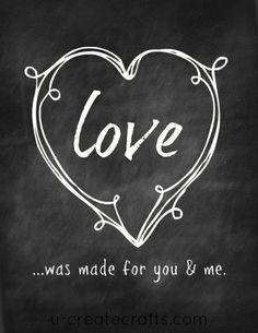 Chalkboard Valentine Printable