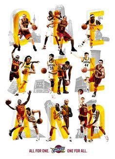 Cavaliers Team Poster 11-12 Concept / blaine fridrick