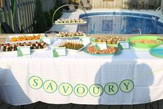 The Savoury Table... loads of delicious little nibbles.