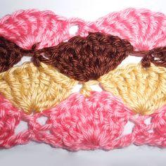 How to crochet Treble Shell Stitch