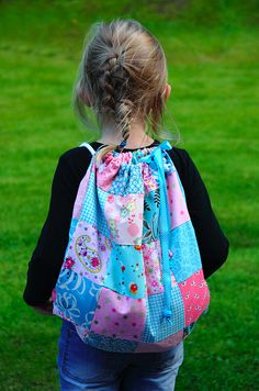 Homemade backpack for school by Craft & Creativity, via Flickr