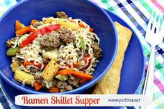 Mommy's Kitchen: Ramen Noodle Skillet {101 Stovetop Suppers}