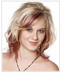 blonde curly hair with brown underneath   Hair Color Trend: Two Tone Color Splash! : Hairstyles   TheHairStyler ...