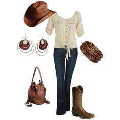 cowgirly., created by bmarsha11 on Polyvore