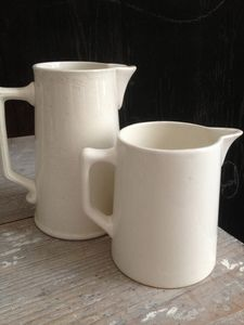 French Faience Pitchers Brocante