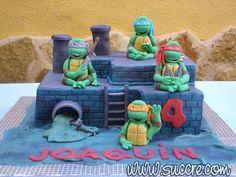 Ninja Turtles Sewer Cake - Tarta Cloaca de las Tortugas Ninja