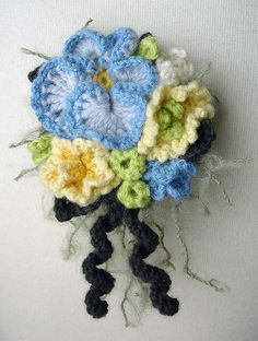 blue pansy corsage