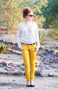 Delusions of Grandeur: yellow and polka dots