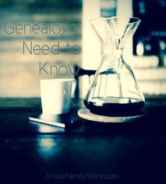 11 #Genealogy Things You Need to Know Today, Thursday, 17 Jul 2014, via 4YourFamilyStory.com. #needtoknow #familytree