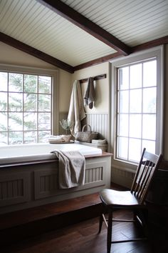 master bathroom..  bathrooms can be tricky if you like colonial or prim.. because they never even exsisted...