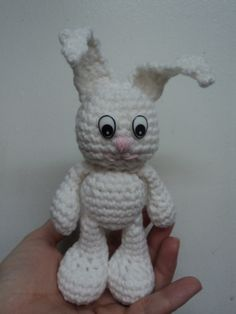 Little Bigfoot Bunny. Free crochet pattern on blog. Click picture!