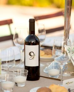 wine table numbers...remember the wine guestbook idea?  what if you had a guestbook for each table? I'm sensing a wine theme...