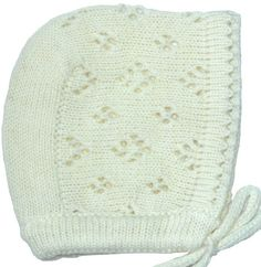This Easter, dress your little one in this festive knit Baby Bonnet that features just a bit of lace.