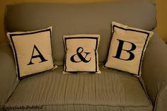 decor, monograming diy sewing, bedroom idea, hous diy, crafti