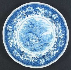 Discontinued Spode China Patterns | Pattern: Williamsburg Country Scenes by SPODE CHINA
