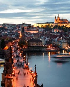 Take a sunset stroll along Prague's Charles Bridge and admire the centuries-old statues. Royalty once took this same path to and from Prague Castle, which punctuates the skyline nearby.