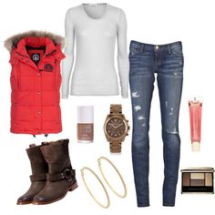 Rustic Chique - I'm a huge fan of the puffy vest!
