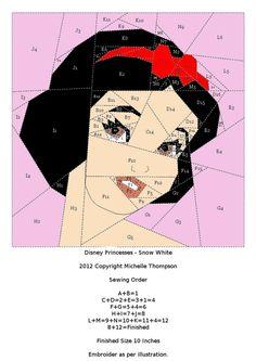 Disney Princess Quilt - Snow White pattern