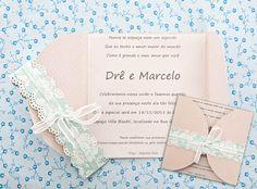 Convite de casamento / DIY, Craft, Upcycle