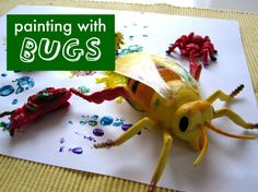 B is for Bees or Bugs - Bug Painting craft