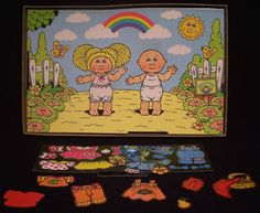 Cabbage Patch Colorforms...totally had this exact one as a kid.
