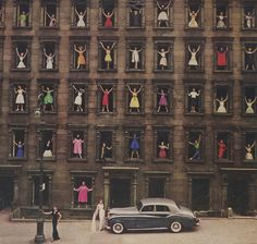 Photo by Ormond Gigli. The ladies in the windows are from the Sixties East Model Agency.