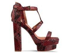 jeffrey campbell toledo in red/black python