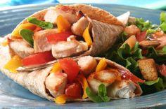 Chicken Fajita Burrito: http://www.achieve-life.com/chicken-fajita-burrito_recipe_2108.htm# #healthy #weightloss #recipes #lunch #dinner