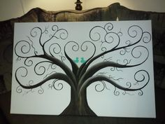 Thumbprint tree guest book!