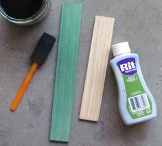 Dye wood with Rit Dye to keep the wood grain look