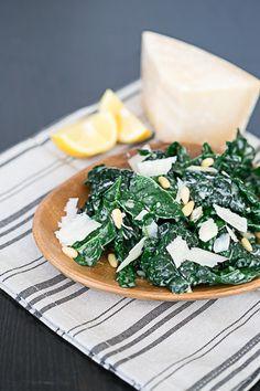 Kale & Parmesan Salad with Lemon Yogurt Dressing