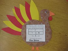 Erica Bohrer's First Grade: Common Core Based Thanksgiving Math Centers