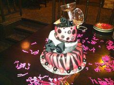 Topsy Turvy Birthday cake I did myself :)