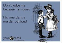 Bwa-hahaha!  #introvert