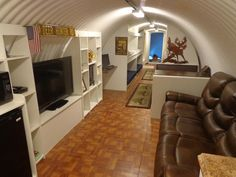 underground house and shelter - comes complete with bathroom, livingroom, extra bunk beds, solar panels, ventilation and concealed escape hatch.