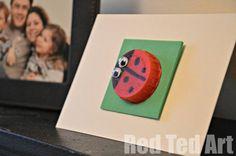 bottl top, ladybug card, craft cards, bottle top crafts, craft ideas