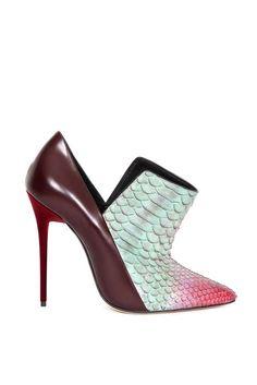 2014 courtesi, ankle boots, vincenzo rtw, mixed media, fall 2014, rtw fall, mix media, vincenzo fall, fall accessories