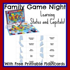 States and Capitals Flashcards 1024x1024 Learning States and Capitals with Family Game Night!