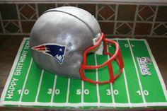 Patriots Helmet Cake groomsmen cake, groom cake, helmet cake