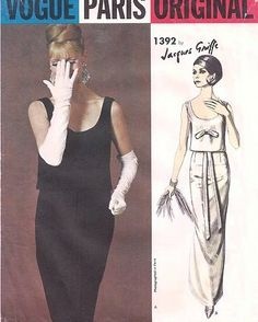 1960s Vogue 1392 Paris Original Evening Gown by ALadiesShop, $95.00 #60s #retro #vintage