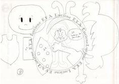 Luciene e.v.a: Molde capa de caderno joaninha