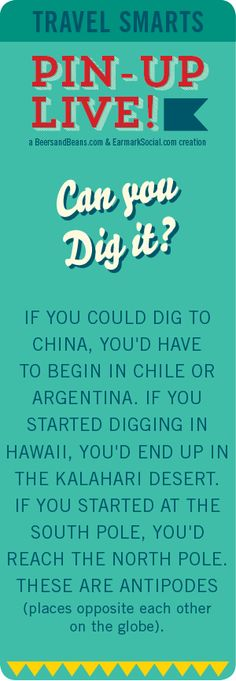 #PinUpLive Travel Smarts - Can you dig it?