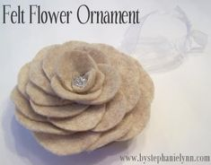 Felt Flower Ornament