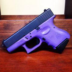 Purple Cerakote. Glock 27 refinished in Bright Purple Cerakote www.kc-coatings.com