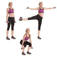 Squat + Lateral Arm & Leg Raise
