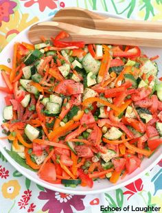 Rainbow Salad-full of stuff that is good for you in every color of the rainbow! #paleo