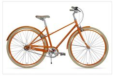 I live so close to our little downtown...I should be riding a bike! Someday, when the girlies can ride, this is what I want to ride! Can't decide on the orange or powder blue or cream or...