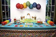 Rainbow b-day party